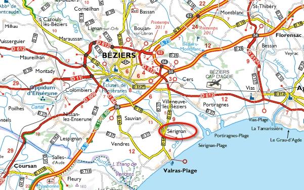 Ou Se Trouve Beziers Sur La Carte De France   My blog